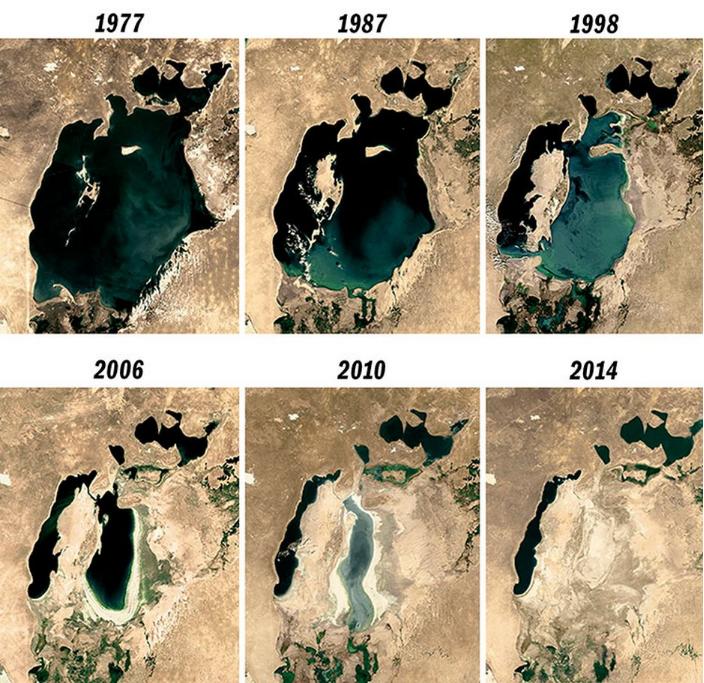 Аральское море высыхание по годам