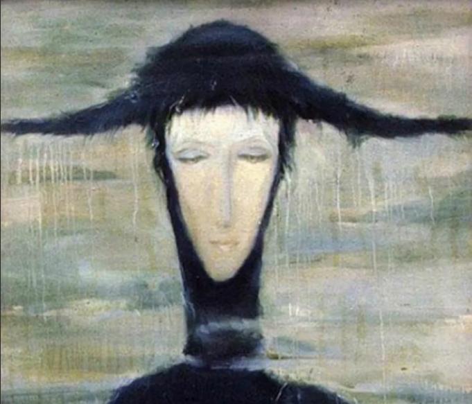 "картина ""Женщина дождя"" Светланы Телец"