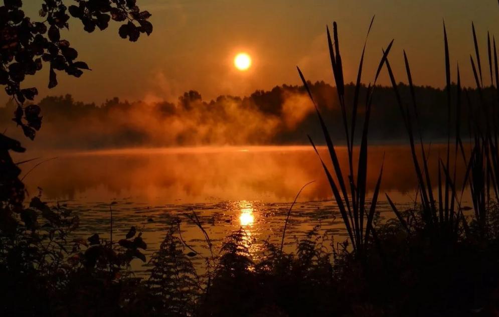 озеро Светлояр вечером в Нижегородской области