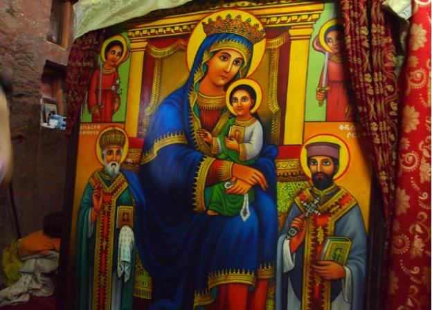 храм Марии отделка золотом в Лалибэле Эфиопия