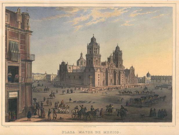 Площадь Плаза-Майор в городе Мехико (Мексика)