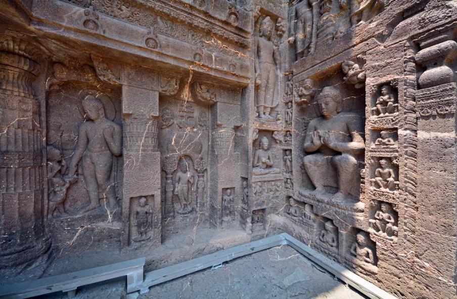 Аджанта Индия скульптуры