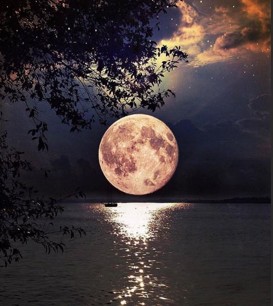 полнолуние лунная дорожка