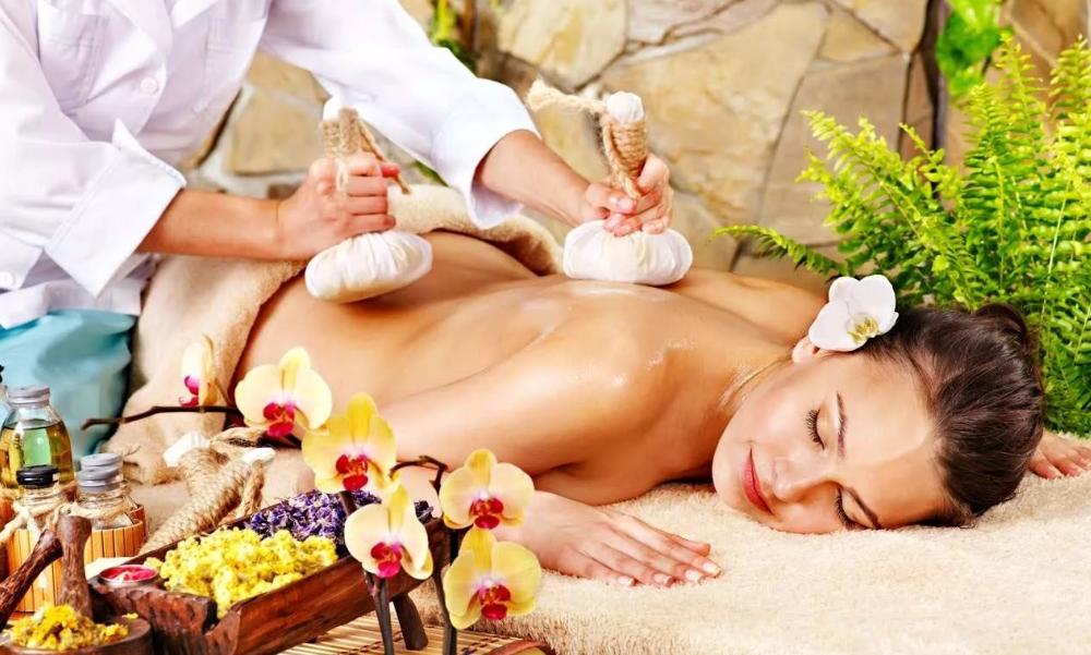 массаж с ароматерапией