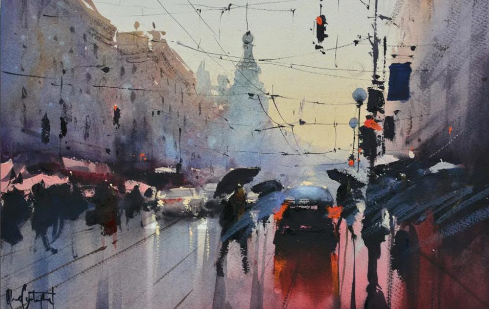 Альваро Кастаньет дождь в городе