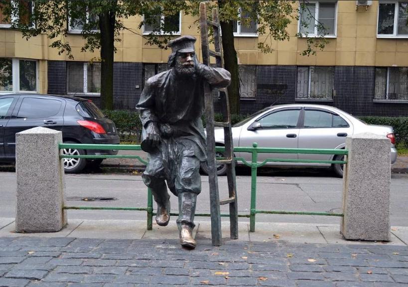 памятник фонарщику в Питере