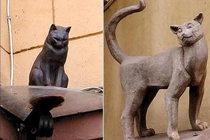 памятник котам в Питере