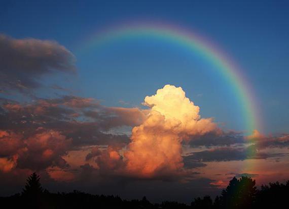 радуга на закате