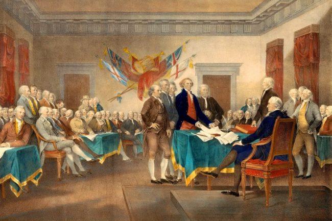 Подписание Декларации независимости США