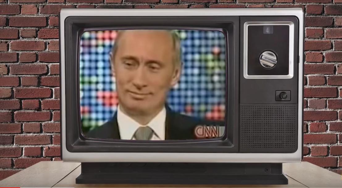 Выражение лица Путина после слов о гибели подводной лодки Курск